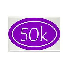 Purple 50k Oval Rectangle Magnet