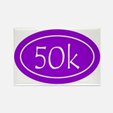 Purple 50k Oval Rectangle Magnet