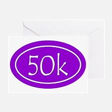 Purple 50k Oval Greeting Card
