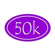 Purple 50k Oval Oval Car Magnet
