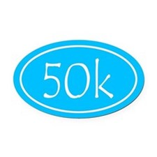 Sky Blue 50k Oval Oval Car Magnet