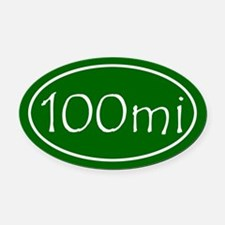 Green 100 mi Oval Oval Car Magnet