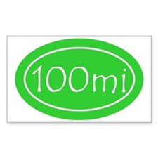 Lime 100 mi Oval Decal