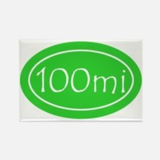 Lime 100 mi Oval Rectangle Magnet