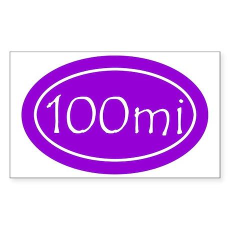 Purple 100 mi Oval Sticker (Rectangle)