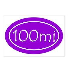 Purple 100 mi Oval Postcards (Package of 8)