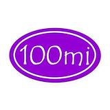 100 mile Oval Car Magnets