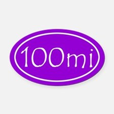 Purple 100 mi Oval Oval Car Magnet