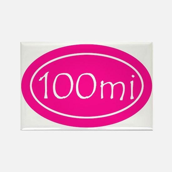 Pink 100 mi Oval Rectangle Magnet