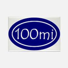 Blue 100 mi Oval Rectangle Magnet