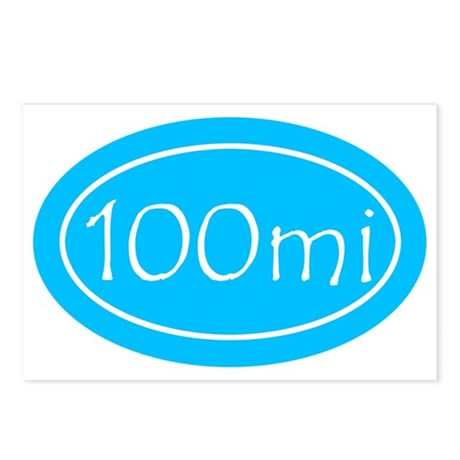 Sky Blue 100 mi Oval Postcards (Package of 8)