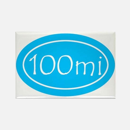 Sky Blue 100 mi Oval Rectangle Magnet