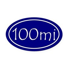 Blue 100 mi Oval Oval Car Magnet