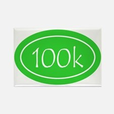 Lime 100k Oval Rectangle Magnet