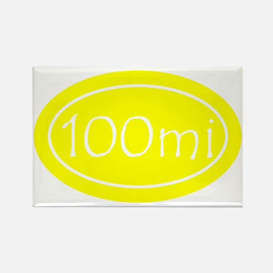 Yellow 100 mi Oval Rectangle Magnet