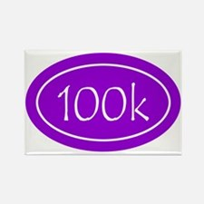 Purple 100k Oval Rectangle Magnet