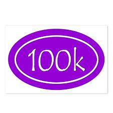 Purple 100k Oval Postcards (Package of 8)