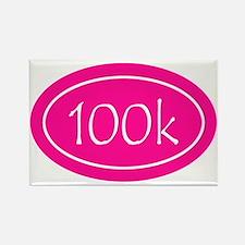 Pink 100k Oval Rectangle Magnet