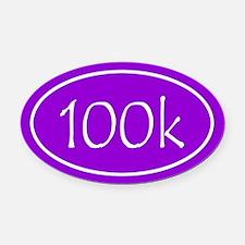 Purple 100k Oval Oval Car Magnet