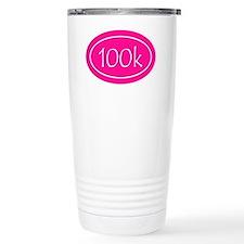 Pink 100k Oval Travel Coffee Mug
