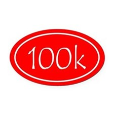 Red 100k Oval Oval Car Magnet