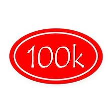Red 100k Oval Oval Car Magnet