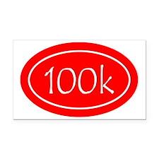 Red 100k Oval Rectangle Car Magnet