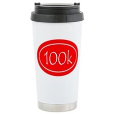 Red 100k Oval Travel Mug