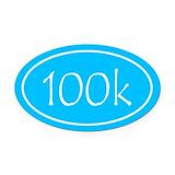 100k Oval Car Magnets