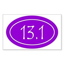 Purple 13.1 Oval Decal