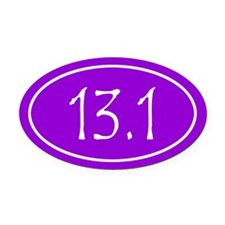 Purple 13.1 Oval Oval Car Magnet