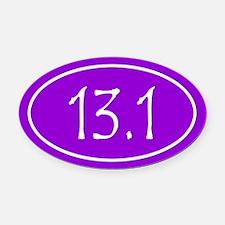 Purple 13.1 Oval Oval Car Magnet