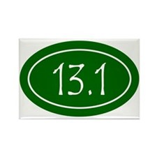 Green 13.1 Oval Rectangle Magnet