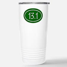 Green 13.1 Oval Stainless Steel Travel Mug
