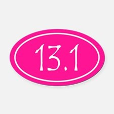 Pink 13.1 Oval Oval Car Magnet