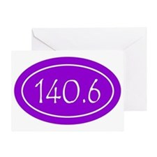 Purple 140.6 Oval Greeting Card