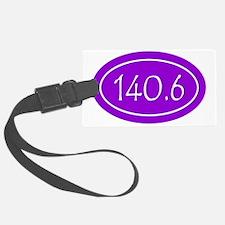Purple 140.6 Oval Luggage Tag