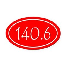 Red 140.6 Oval Oval Car Magnet