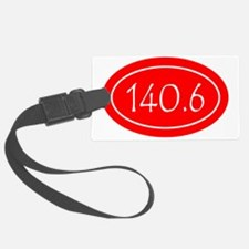 Red 140.6 Oval Luggage Tag
