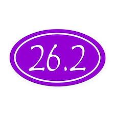 Purple 26.2 Oval Oval Car Magnet