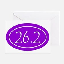 Purple 26.2 Oval Greeting Card