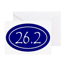 Blue 26.2 Oval Greeting Card