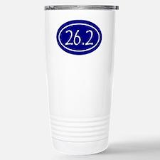 Blue 26.2 Oval Travel Mug