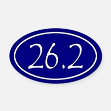 Blue 26.2 Oval Oval Car Magnet