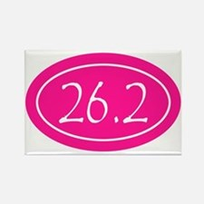 Pink 26.2 Oval Rectangle Magnet