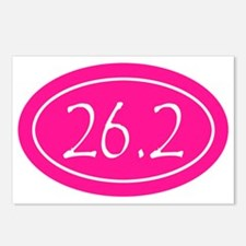Pink 26.2 Oval Postcards (Package of 8)