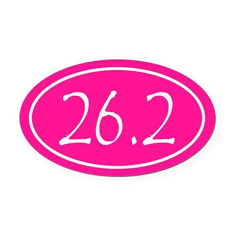 Pink 26.2 Oval Oval Car Magnet