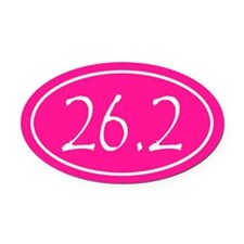 Pink 26.2 Oval Oval Car Magnet
