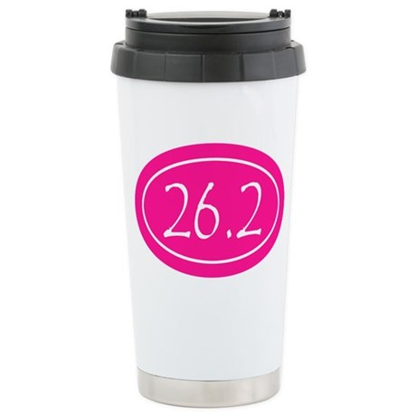 Pink 26.2 Oval Stainless Steel Travel Mug