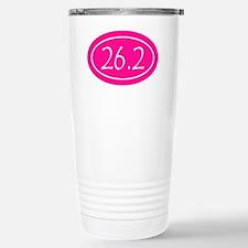Pink 26.2 Oval Travel Mug